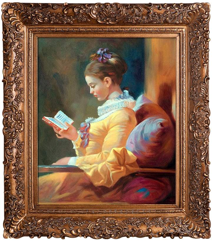 Overstock Art The Reader by Jean-Honore Fragonard (Framed Canvas)
