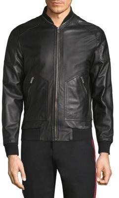 The Kooples Leather Bomber Jacket