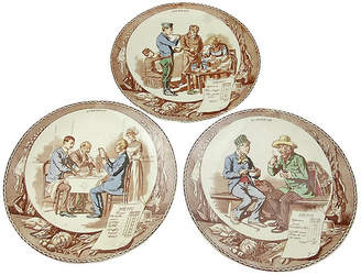 One Kings Lane Vintage French Decorated Wall Plaques - Set of 3