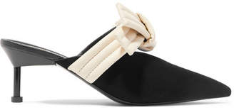Mercedes Benz Castillo - Bow-embellished Suede Mules - Black