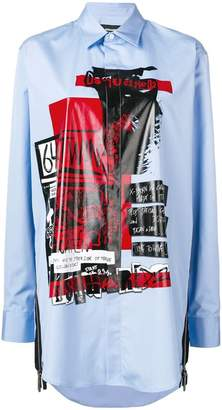 DSQUARED2 patch print oversized shirt