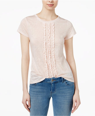 Maison Jules Cotton Ruffled T-Shirt, Only at Macy's $39.50 thestylecure.com