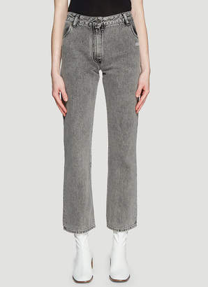 Off-White Off White Cropped Jeans in Grey