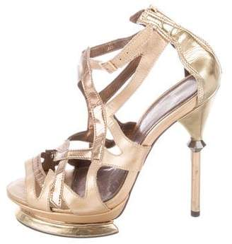 Carvela Metallic Platform Sandals