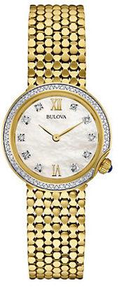 Bulova Ladies' Diamond Gold Tone Watch, 98R218 $575 thestylecure.com