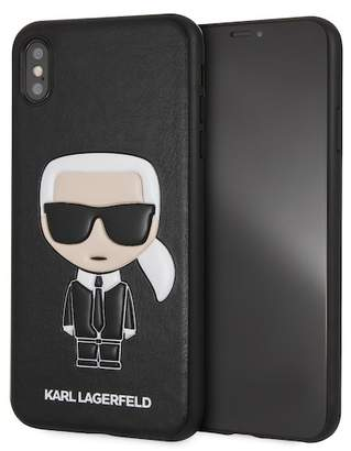 Karl Lagerfeld Black PU IKonik iPhone XS Max Case