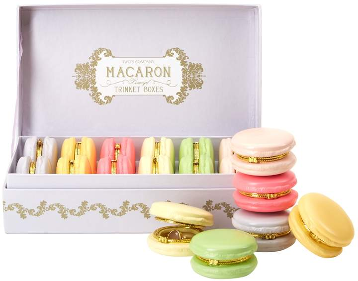 Macaron Limoges Ceramic Trinket Boxes (Set of 12)