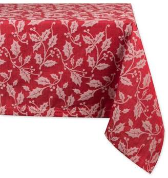 "Dii DII Holly Flourish Jacquard Tablecloth, 60x84"", 100% Cotton"