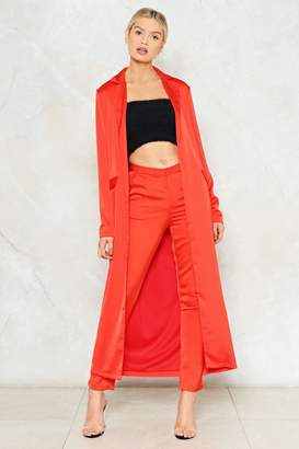 Nasty Gal Carry On Satin Duster Jacket