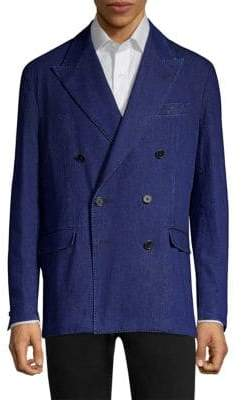 Polo Ralph Lauren Indigo Double-Breasted Denim Sportcoat