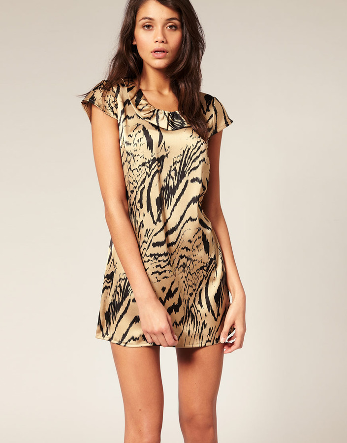 Vero Moda Animal Print Collar Dress