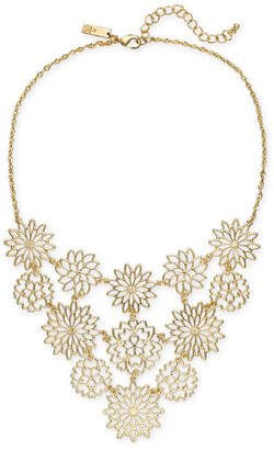 """INC International Concepts I.N.C. Gold-Tone Flower Statement Necklace, 18"""" + 3"""" extender, Created for Macy's"""