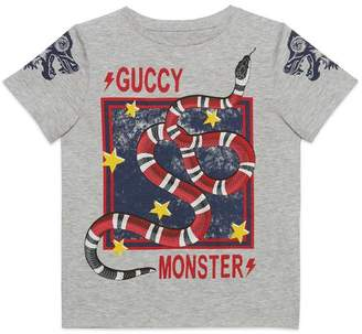 Gucci Children's Guccy Monster and Kingsnake T-shirt