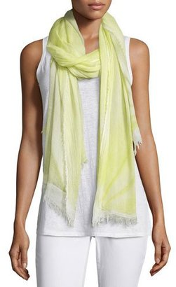 Eileen Fisher Hand-Dyed Modal/Silk Ombre Scarf, Lemon Ice $148 thestylecure.com