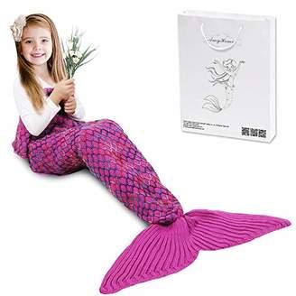 AmyHomie Mermaid Tail Blanket