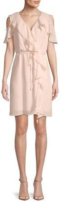 Saks Fifth Avenue BLACK Women's Gauzy Crepe Cold-Shoulder Dress