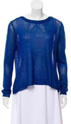 Aiko Lurex Long Sleeve Top w/ Tags