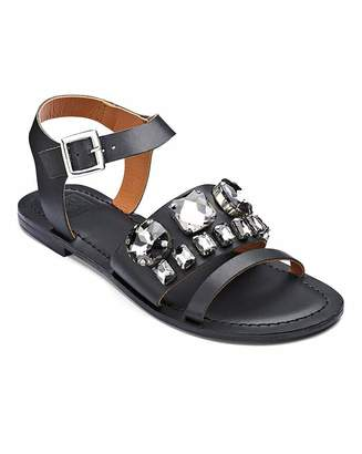245519ed1887 Sole Diva Jewelled Sandals D Fit