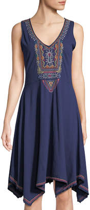 Johnny Was Annika Embroidered Swing Dress