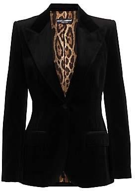 Dolce & Gabbana Women's Velvet Blazer