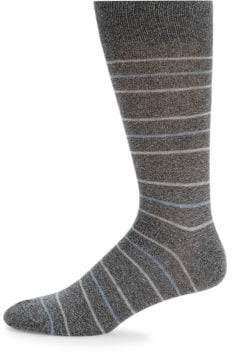 Saks Fifth Avenue Tri Stripe Crew Socks