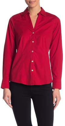 Foxcroft Rita Collared Non-Iron Stretch Blouse