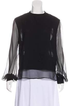 Antonio Berardi Wool Long Sleeve Top