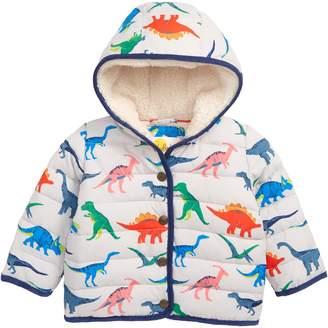 Boden Mini Babysaurus Water Resistant Quilted Puffer Coat