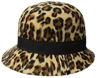 San Diego Hat Company CTH8118 Faux Wool Felt Cloche with Grosgrain Bow