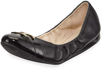 Cole Haan Terrin Leather Ballet Flats, Black