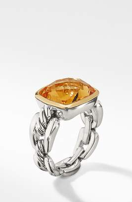 David Yurman Wellesley Link Statement Ring with 18K Gold
