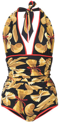 Pasta printed swimsuit