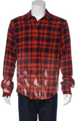 Faith Connexion Bleach Distressed Flannel
