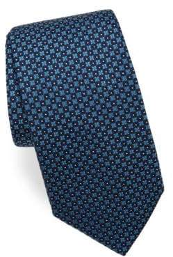 Corneliani Diamond-Print Silk Tie