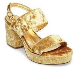 Steve Madden Reba Velvet Slingback Sandals