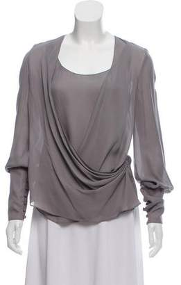 Wes Gordon Silk Long Sleeve Blouse