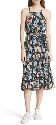 Joie Deme Floral High\u002FLow Silk Dress