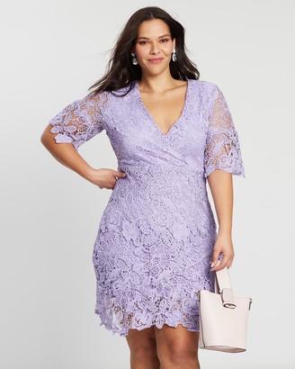 Wrap Over Frill Hem Mini Dress