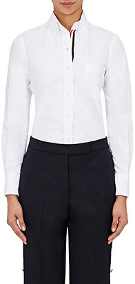 Thom Browne Women's Cotton Oxford Blouse $425 thestylecure.com