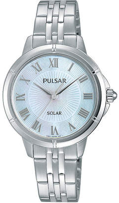 Pulsar Womens Mother-of-Pearl Solar Bracelet Watch