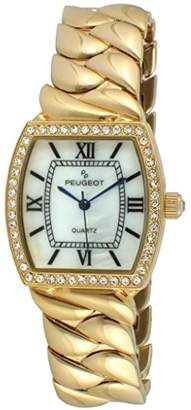 Peugeot Women's 'Luxury Teardrop' Quartz Metal and Gold Plated Casual Watch(Model: 7099G)