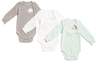 Baby Elephant Long Sleeve Thermal Bodysuits