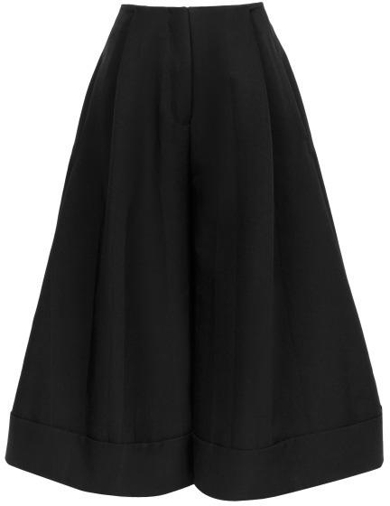 J.W.Anderson Preorder Black Silk Canvas Crop Trousers