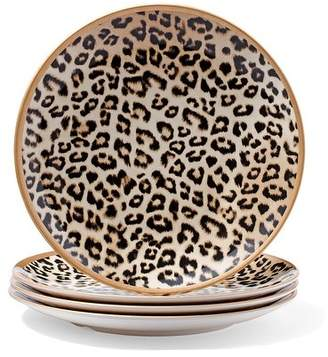 Large Leopard-Print Plate Set