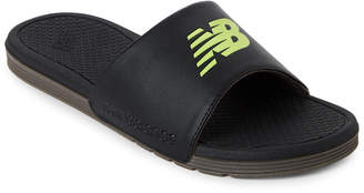 New Balance Black & Green Pro Slides