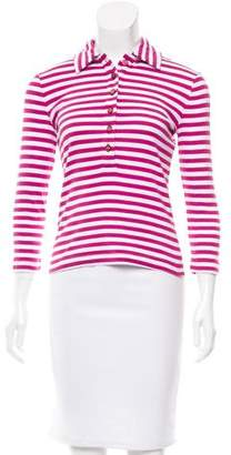 Tory Burch Striped Button-Up Top