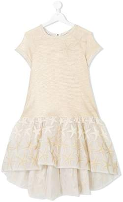 Quis Quis TEEN sea star embroidered dress