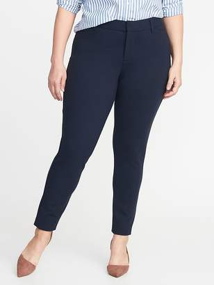 Old Navy Secret-Slim Pockets + Waistband Plus-Size Ponte-Knit Pixie Trousers