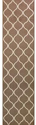 Maples Rugs Runner Rug - Rebecca 2'6 x 10' Non Skid Hallway Carpet Entry Rugs Runners [Made in USA] for Kitchen and Entryway