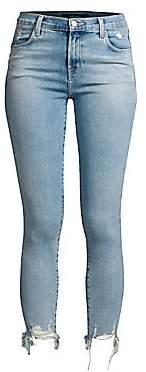 J Brand Women's Alana Distressed Hem Skinny Jeans